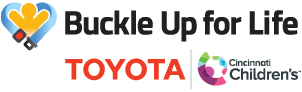 Buckle Up for Life is supported by Toyota & Cincinnati Children's